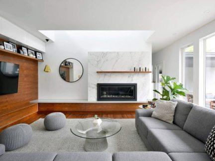 现代风格时尚闲适客厅灰色沙发图片