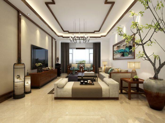 中式古典-130平米三居室-装修样板间