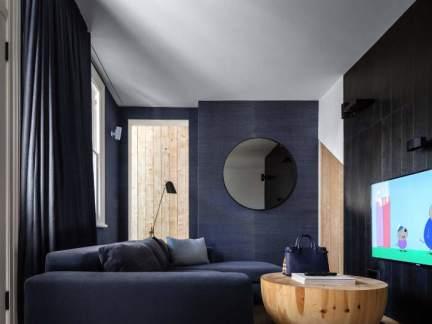 优雅蓝色现代风格时尚客厅装修图片