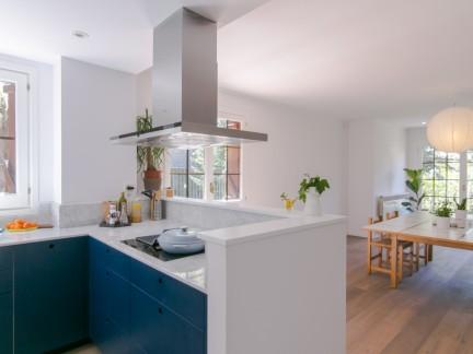 清爽纯净北欧风格开放式厨房设计