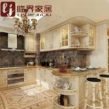 重庆临界家具定制整体厨房实木原木欧式橱柜图片
