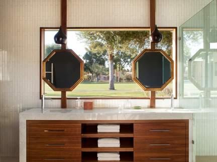 现代风格时尚大气卫生间洗手台设计图