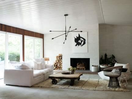 朴素淡雅北欧风格客厅茶几图片欣赏