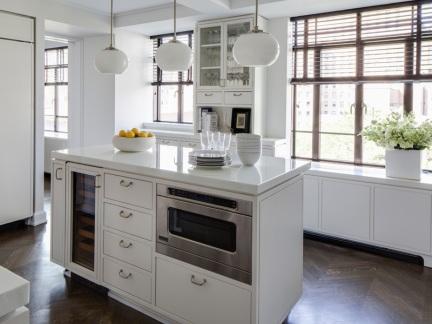 欧式风格开放式厨房中岛设计效果图