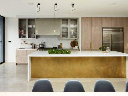 现代风格开放式清新厨房装修图片