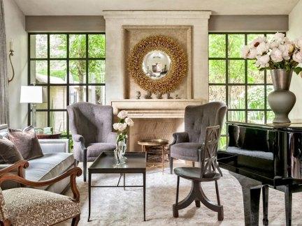 精致低奢简欧风格客厅背景墙设计效果图