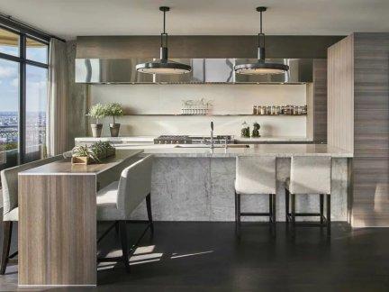 气质内敛现代风格开放式厨房设计