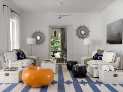 淡雅美式风格精致客厅装修效果图