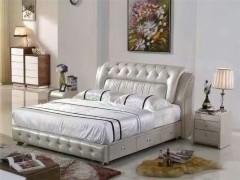现代风格 简约舒适家居 休闲时尚1.8米真皮软体婚床