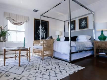 北欧风格清爽休闲卧室装修实景图