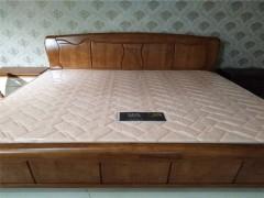 中式风格 中式王者款 波浪型床头 高档水曲柳实木1.8米双人
