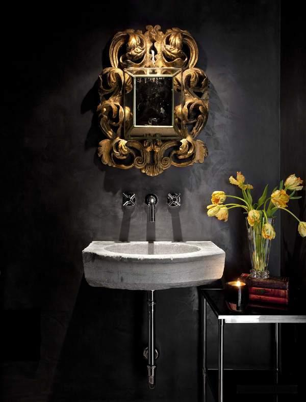 典雅复古欧式风格洗手台装修效果图