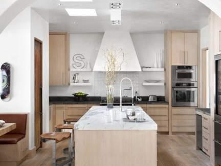 现代风格温馨大气开放式厨房实景图