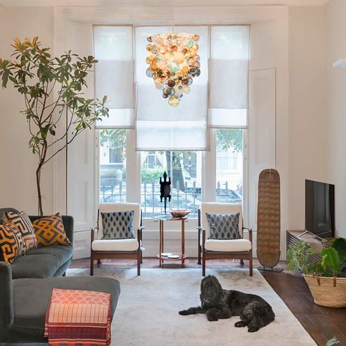 温馨闲适现代风格客厅灯饰装修图片