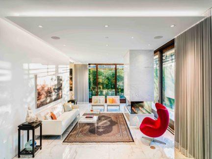 现代简约风格精致别墅轻奢客厅效果图
