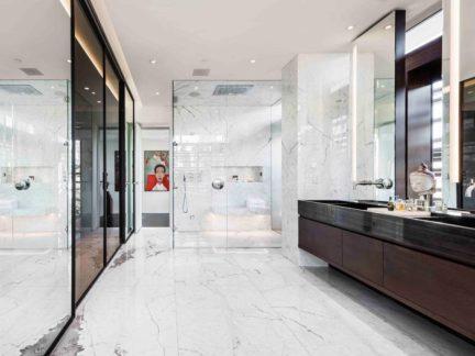 奢华大气现代风格卫生间洗手台设计图