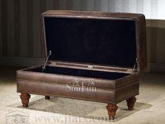 大风范家具路易十六卧室系列LV-820-1床前凳