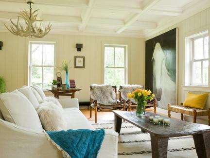 美式风格温暖闲适客厅茶几装修图片