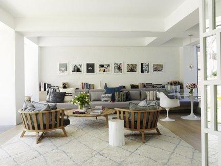 温馨休闲现代风格客厅沙发图片欣赏
