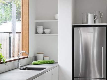 简约风格清新小户型白色厨房效果图