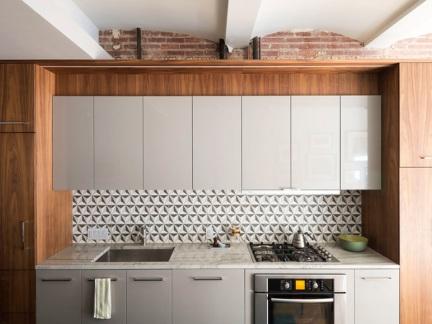 现代风格精致小厨房橱柜装修设计图
