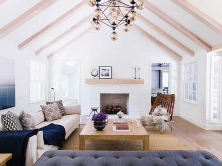 北欧风格干净温馨客厅灯饰装修效果图
