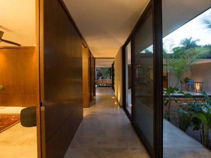 低调现代风格别墅走廊装修效果图