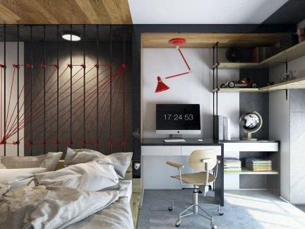 雅致混搭风格家装卧室装修设计