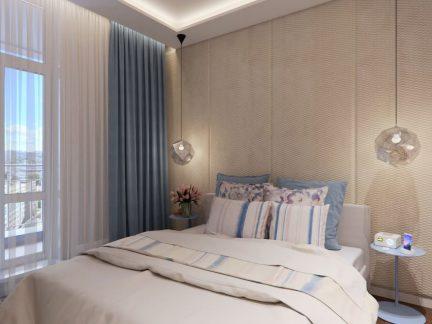 现代风格恬静优雅卧室装修效果图