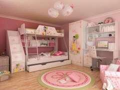 定做儿童房家具 怡萧行简约现代超值热卖 上下床书桌创意组合衣