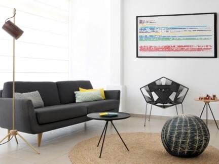 几何趣味 80平纯净北欧风公寓设计