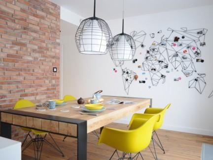 混搭风格清新文艺餐厅照片墙图片欣赏