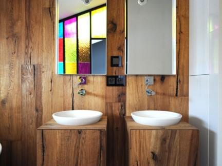 简约风格温馨暖调原木色卫生间效果图
