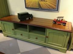美式乡村实木电视柜组合1.8米田园做旧地中海小户型简约客厅家