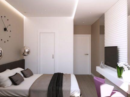 简约家装现代风格卧室装修实景图