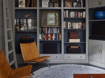 美式风格大气随性书房装修实景图