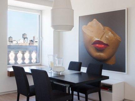 文雅简约现代风格黑色餐厅餐桌装修图片