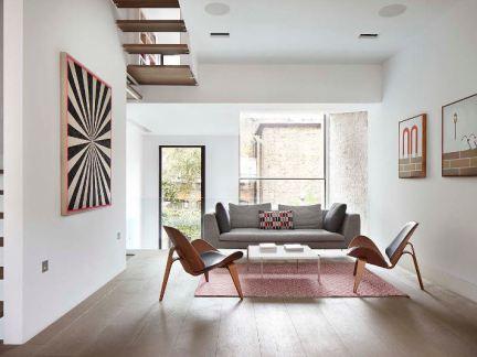北欧风格清雅舒适客厅装修实景图