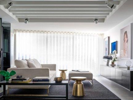 时尚现代风格精致客厅装修实景图