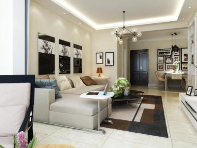 简约美式风格-118平米三居室装修样板间