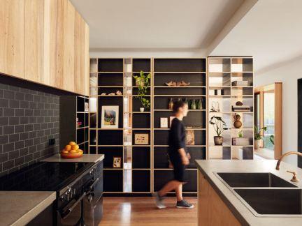 现代简约风格小资文艺厨房装修实景图