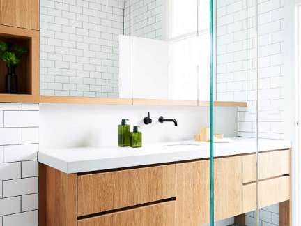 优雅简约风格卫生间洗手台装修图片