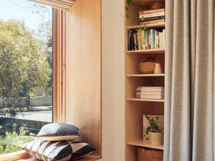 日式风格温润恬淡原木色飘窗设计图