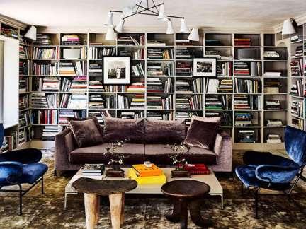 美式风格文雅大气客厅书架装修设计图