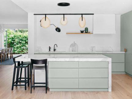 现代简约风格清新时尚厨房装修图片