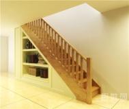 百姓园楼梯直型实木楼梯