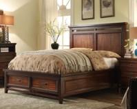 美伦美MYS-HP29958-97S简约美式家具纯实木大板床图片