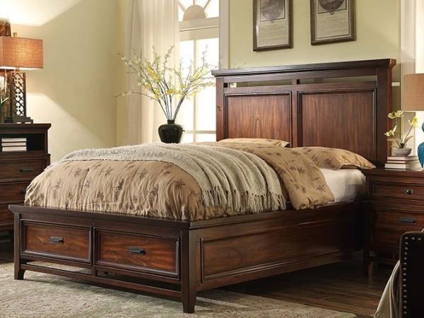 美伦美MYS-HP29958-97S简约美式家具纯实木大板床