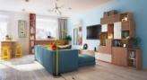 60㎡混搭风格二室一厅,多彩的设计让你一秒入夏
