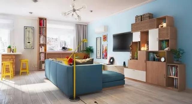 60�O混搭风格二室一厅,多彩的设计让你一秒入夏